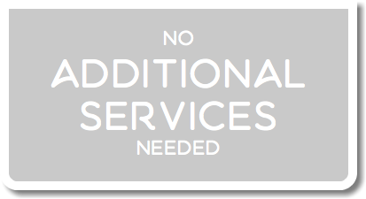 no additional services needed